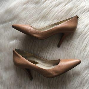 Michael Kors tan leather pumps classic 8.5